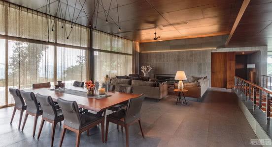 国外别墅设计案例:印度静修胜地,可欣赏无敌景观度假别墅