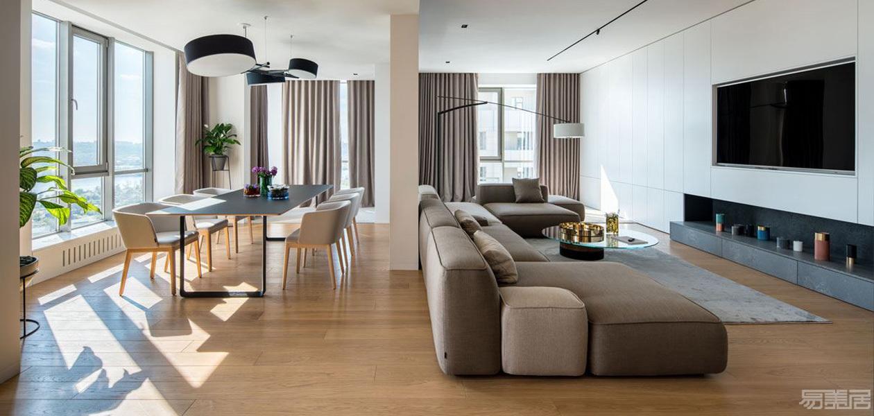 300平米乌克兰现代公寓,现代,公寓