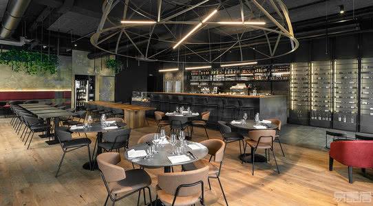 国外餐厅设计案例:向巴洛克风格遗产建筑致敬,都灵Guarini餐厅