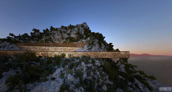 国外住宅设计案例:山丘上的住宅,与自然和谐共存