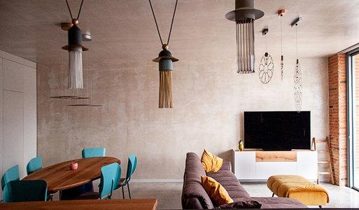 国外公寓设计案例:材料和概念相互融合的北欧风格公寓