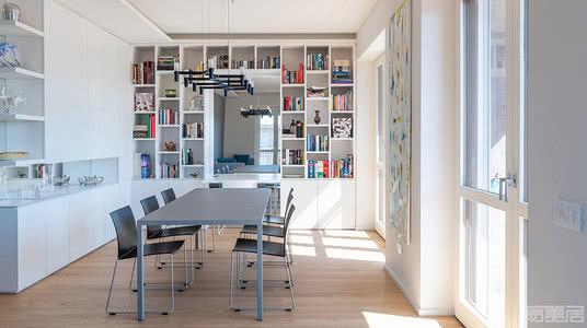 国外公寓设计案例:100㎡的米兰公寓改造,结构与空间的平衡表达
