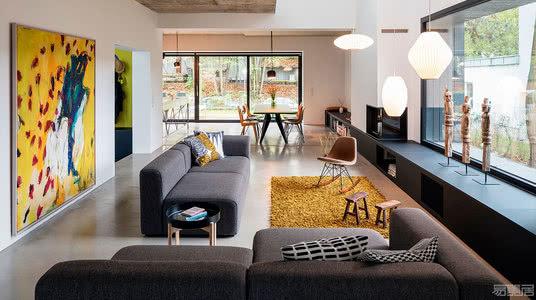 国外住宅设计案例:70年代的旧工业建筑改造,构建现代家庭住宅