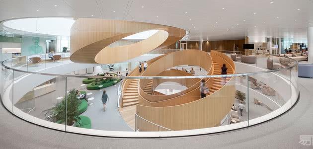 国外办公空间设计案例:代表运动员的能量,国际奥林匹克委员会总部
