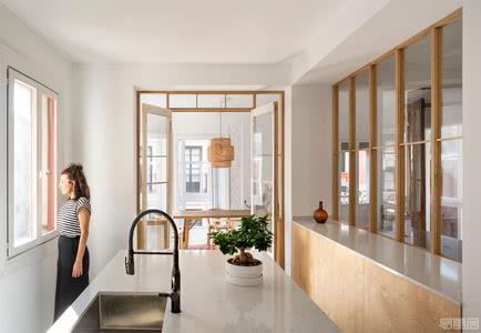 国外公寓设计案例:自然光线充足的简约风格公寓设计