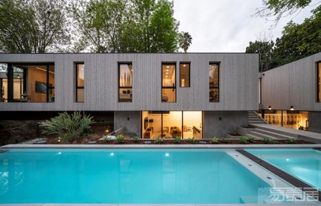 国外住宅设计案例:洛杉矶现代住宅,与自然的深刻联系