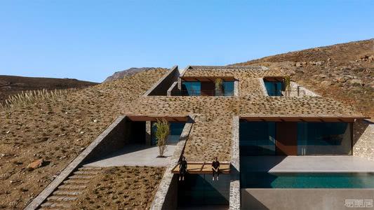 国外住宅设计案例:希腊悬崖上的无敌海景住宅