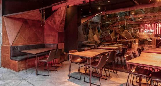 """国外餐厅设计案例:营造一种抽象的景观,""""颠覆性""""的小酒馆"""
