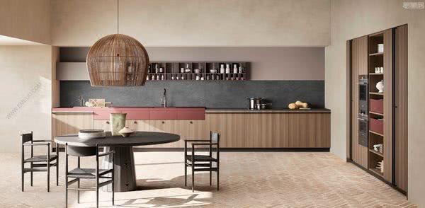 描绘出温馨家庭生活场景的意大利橱柜品牌TONCELLI