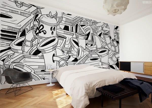 意大利墙纸品牌WallPepper,真实的当代艺术品