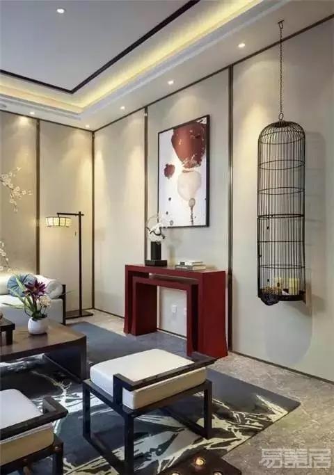 软装设计:新中式风格墙面装饰的4个技巧