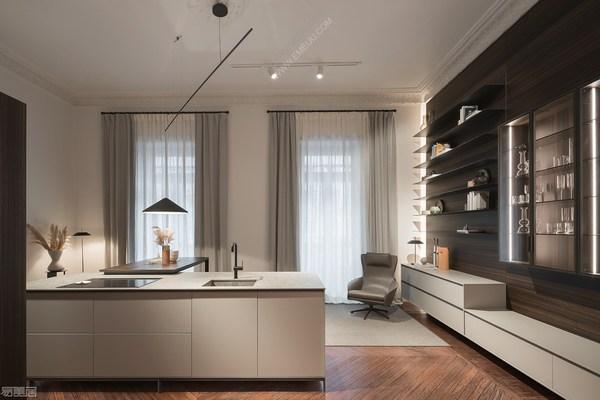 在厨房发挥创意效果的西班牙灯饰品牌VIBIA