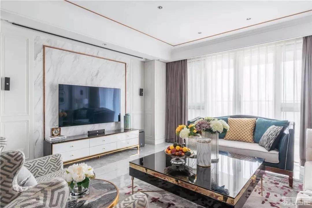 室内设计:木质 大理石,电视墙这样装,显高档!