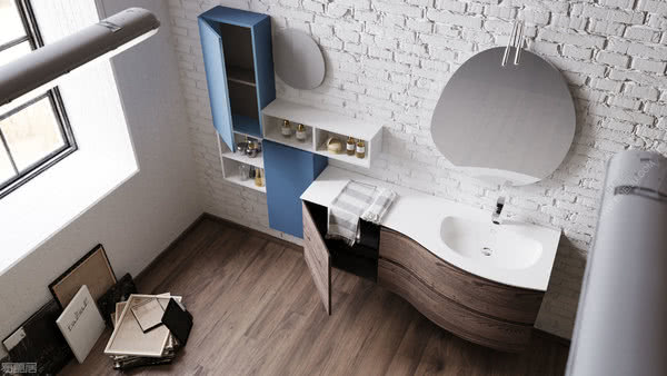 意大利卫浴品牌Mobiltesino打造原始而温馨的浴室空间