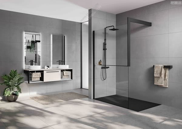黑与白的碰撞,意大利卫浴品牌Novellini诺威利尼