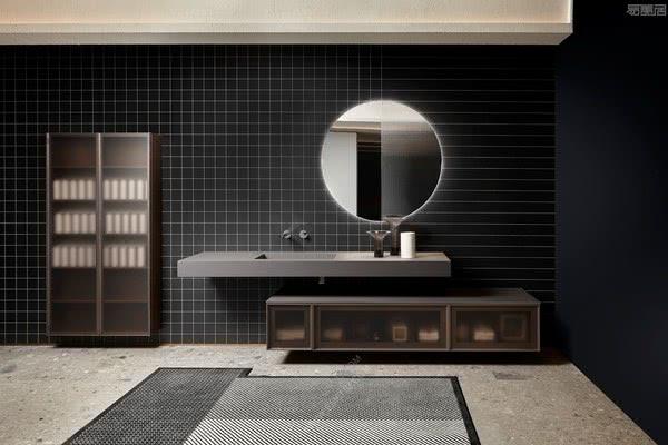 意大利卫浴品牌antoniolupi安东尼奥·卢比的米兰黑白主题展厅