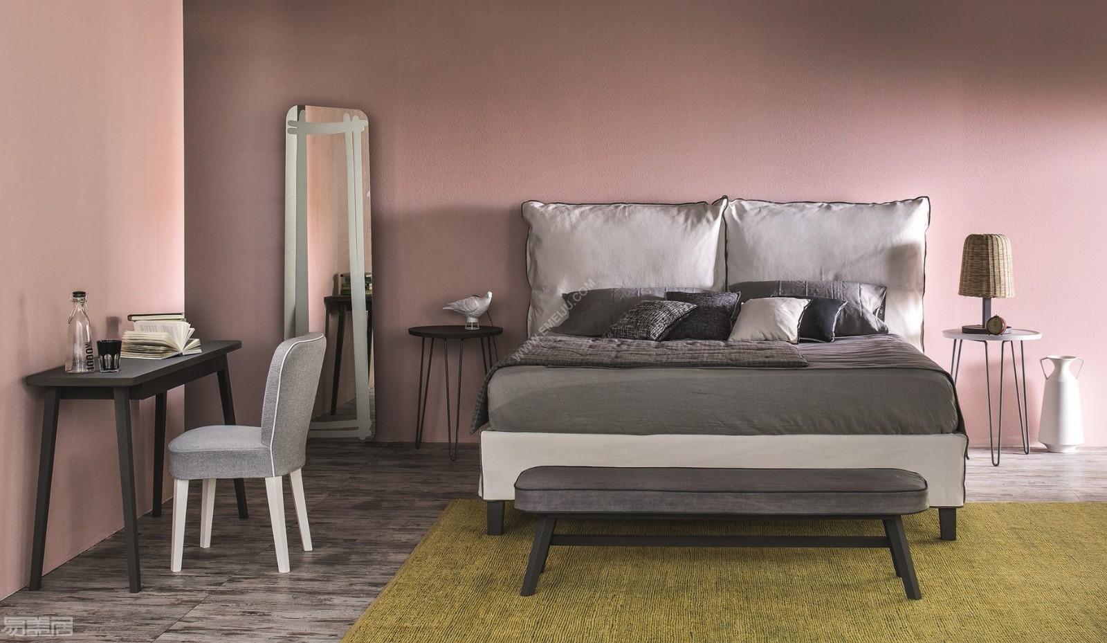 让卧室更美丽,意大利家具品牌letti&co用色彩装点卧室图片