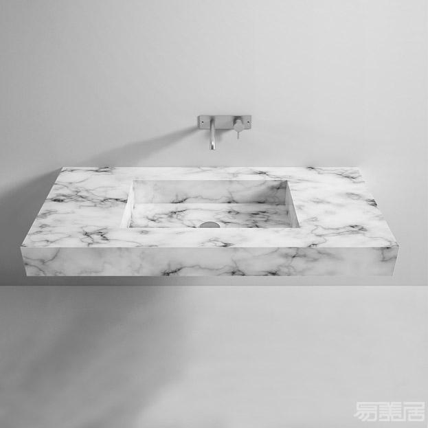 Marble Top With Rectangular Washbasin Washbasin Rexa Design Washbasin Emeiju